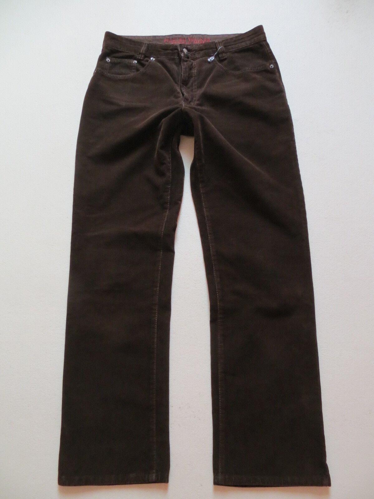 JOKER Jeans Harlem Walker Cord Hose W 33  L 32 brown, Hochwertig & Robust, RAR