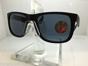 RAYBAN Sunglasses RB 4165 622 2V 54MM JUSTIN MATTE BLACK POLARIZED ... e913011cd1