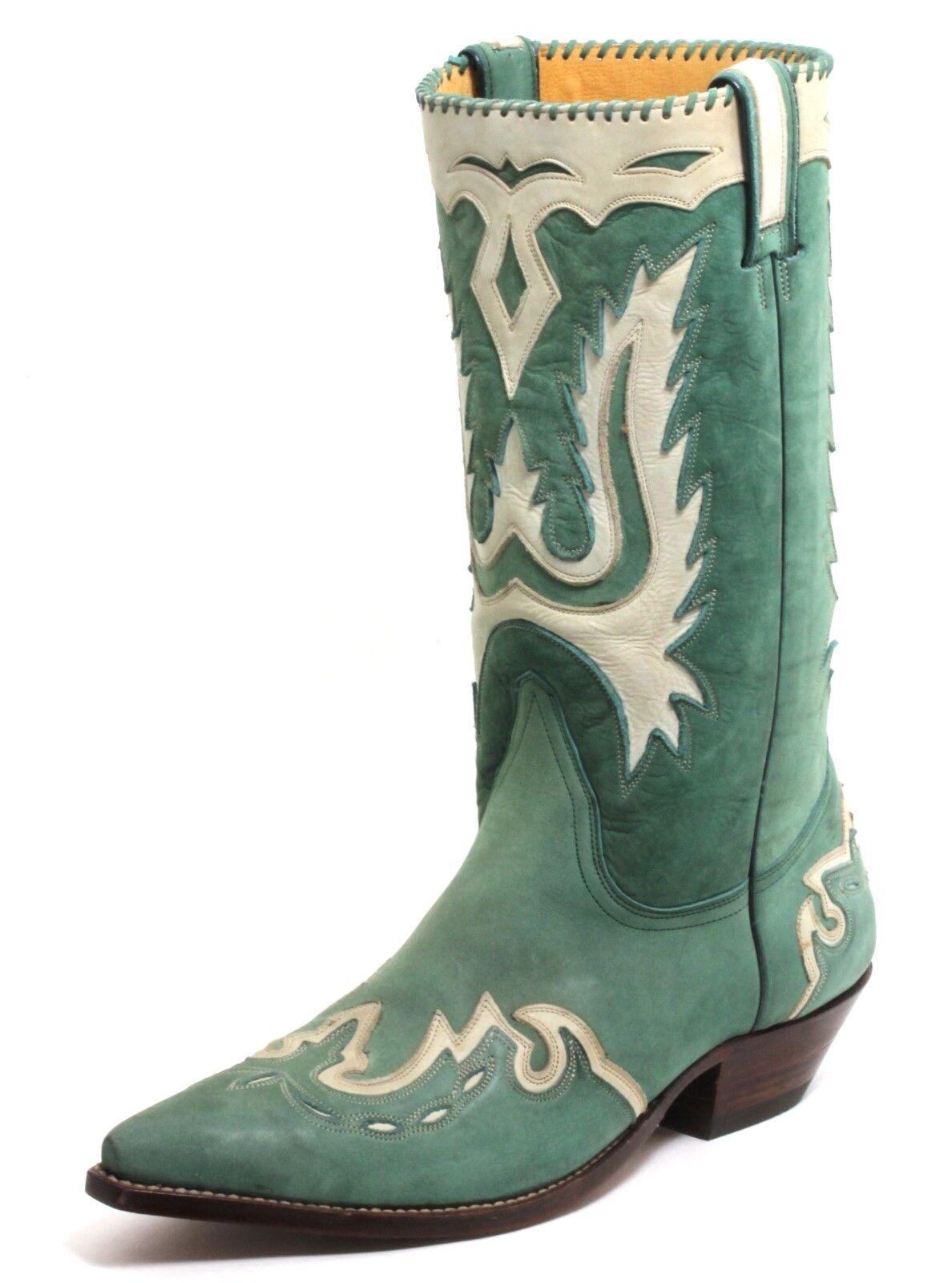 100 Cowboystiefel Westernstiefel Texas Stiefel Leder Catalan Style Grün Sancho 45