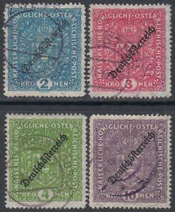 Autriche 1919 Nº 243-246 Estampillé Kw 35 €-afficher Le Titre D'origine Avec Les éQuipements Et Les Techniques Les Plus Modernes