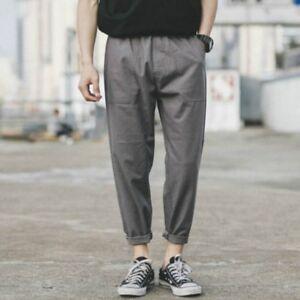 373ac97f69 uomo biancheria cotone pantaloni harem larga Largo Vintage Tinta ...