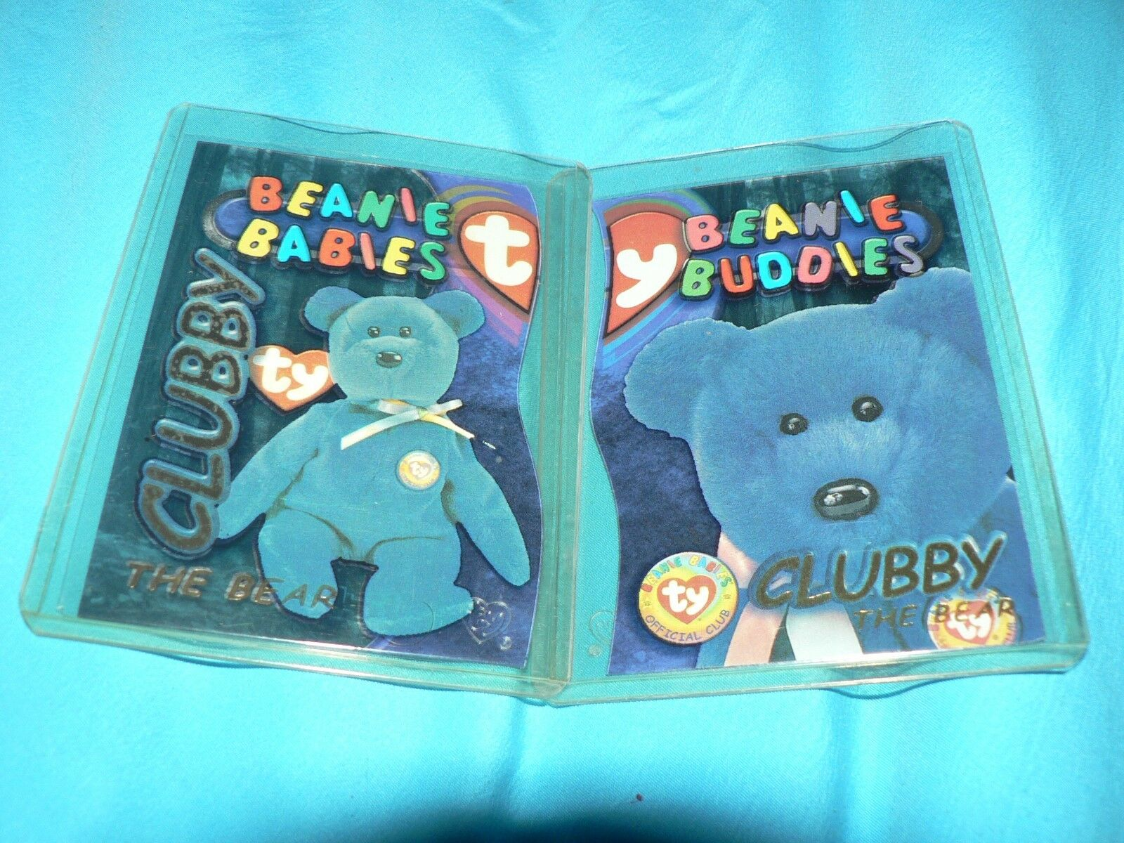 RARE Ty Beanie Babie Buddies 2 Clubby Cards gold 9990 Limited Edition 2 card Lot