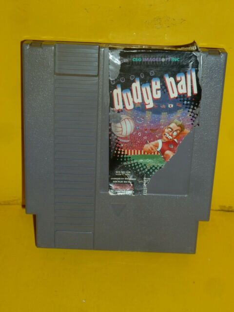 Super Dodge Ball Nintendo NES1989 Cartridge Only Damaged Lable excellent Working