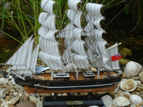 Boat Maritime Model Cutty Sark Ship On Stand Made From Wood Lots Of Detail