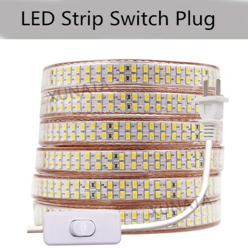 110V 240LEDs//m 5730 SMD LED Strip Light Dimmable Flexible Wire Rope Waterproof