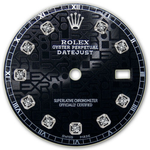 REFINED MENS SS DATEJUST BLACK JUBILEE DIAMOND DIAL RT FOR ROLEX-36