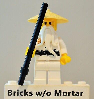 NEW LEGO Ninjago Minifig Sensei Wu Tan Hat with staff Hands of Time 70626