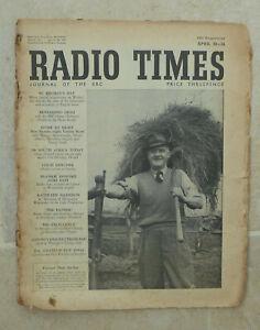 Media-magazine-Radio-Times-20th-26th-April-1952-sound-amp-TV-schedules