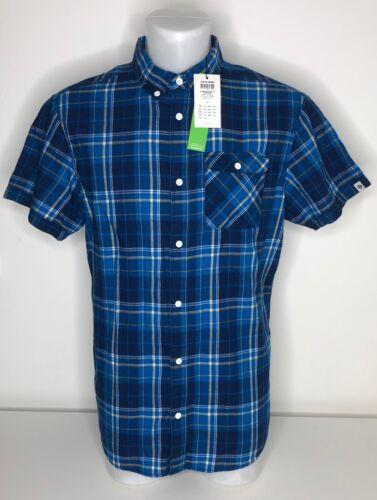 1 Pocket JCMORTEN Jack /& Jones Check Mens Short Sleeve Shirt New- Slim Fit