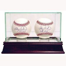 Glass Double Baseball Case Steiner UV Protected- QTY Available!