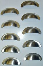 Satin Nickel Cup/Bin Style Drawer Pull (Qty 10)