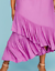 Lane-Bryant-Womens-Off-the-Shoulder-Ruffle-Maxie-Dress-Plus-14-16-18-20-Orchid thumbnail 5