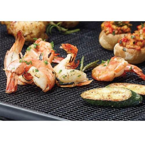 MINTIML GRILL MAT BBQ Grill Mesh Mat Non-Stick Cooking Sheet Liner Fish UK New