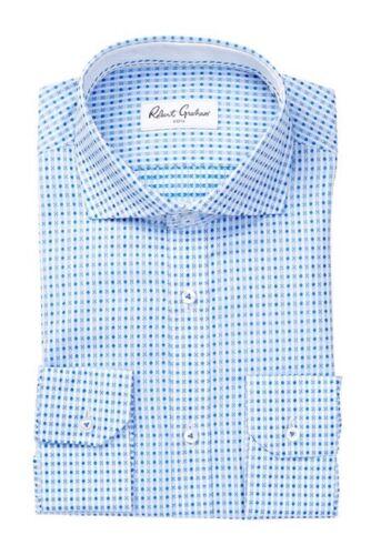 16 5 moda Nwt Tamaño de Azul Color Camisa hombre Graham Robert vestir 841124119199 Chai para de wq804zS