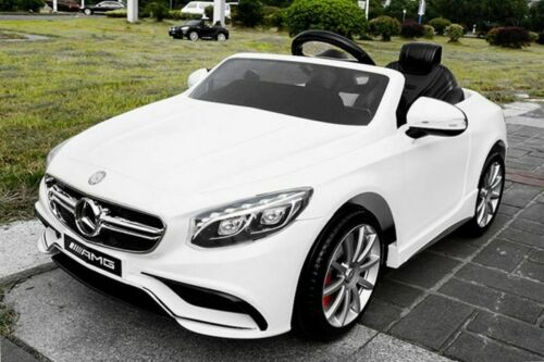 Lizenz Kinderauto Mercedes Benz S63 AMG 2x35W 12V Kinderfahrzeug 2.4G RC