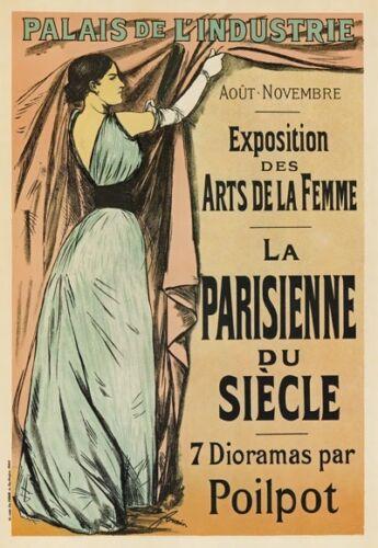 AP56 Vintage French Paris Art Of Women Advertisement Poster Card Print A5