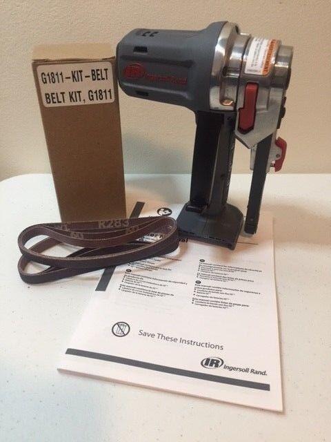 Ingersoll Rand G1811 Iqv12 12 Volt Belt Sander Bare Tool & Sanding Belts Last 1