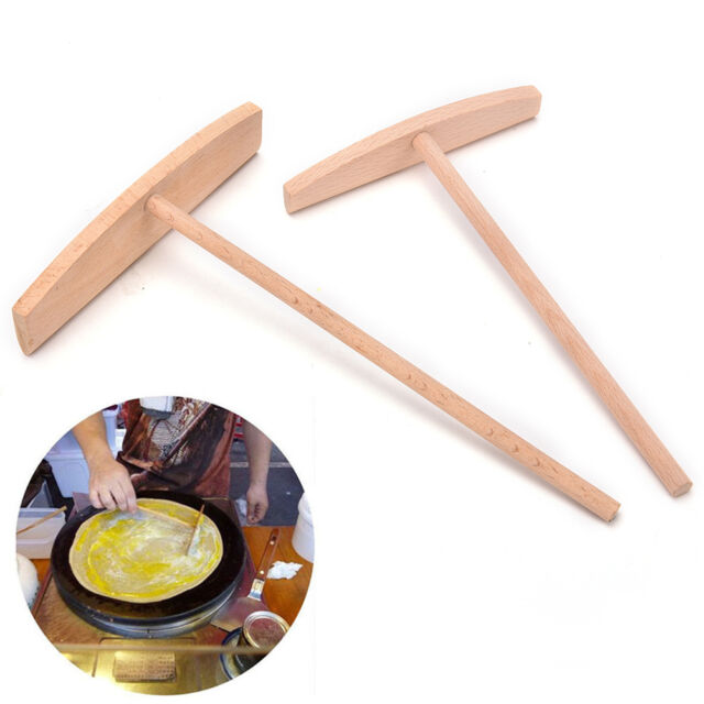 Crepe Maker Pancake Batter Wooden Spreader Stick Home Kitchen Tool Kit DIY  SP