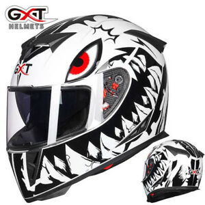 Motorcycle Helmet Full Face w/Dual Sun Visor Motocross Racing Dual Sport Helmet