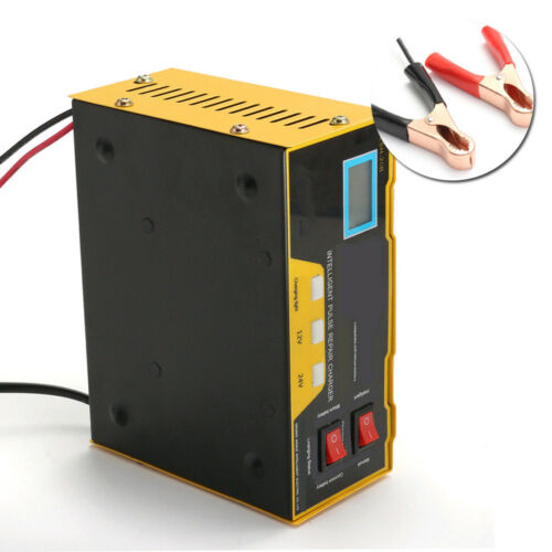 12V//24V Auto Car Charger Pulse Repair Type For Lead Acid /& Lithium Battery 100AH