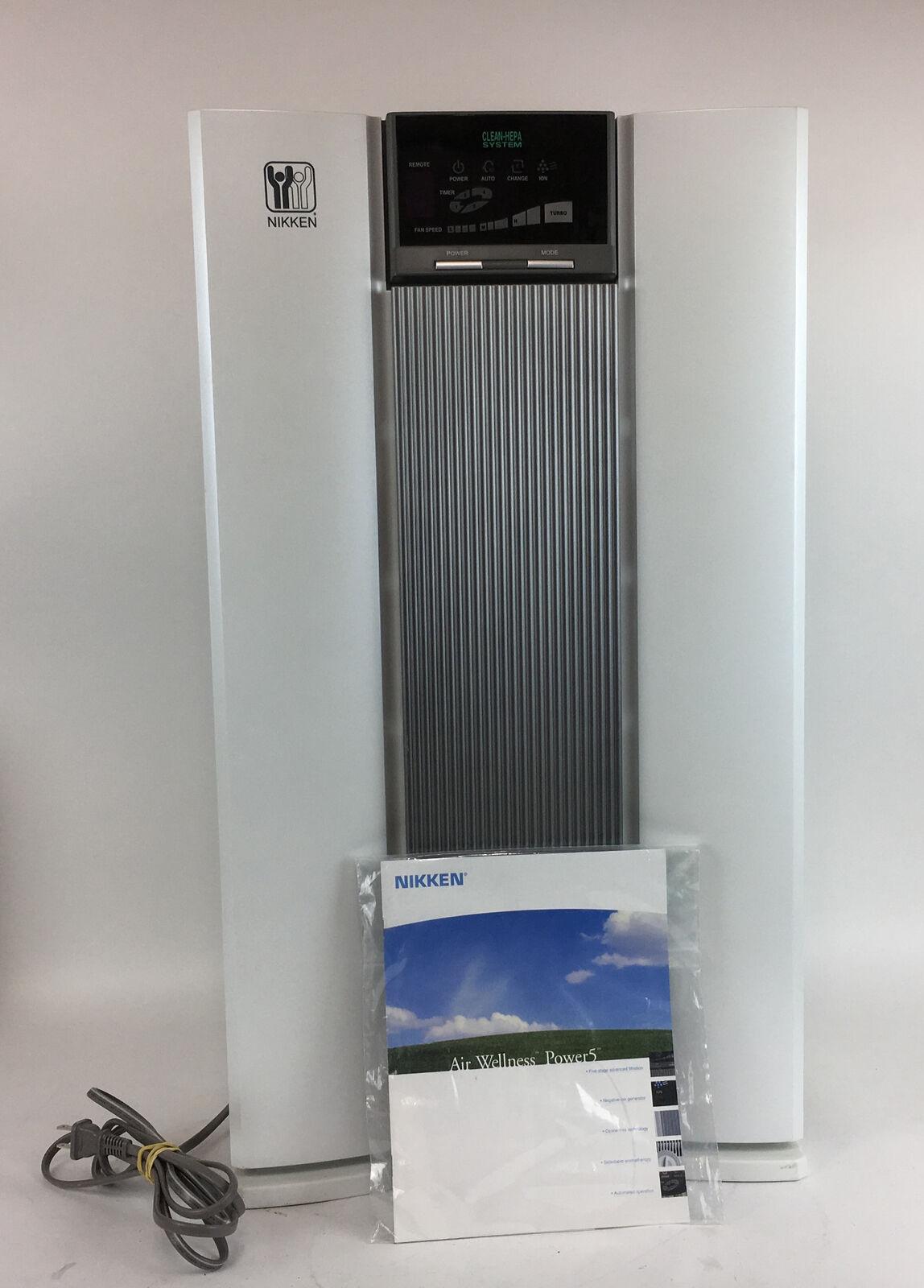 Nikken Air Wellness HEPA Air ion purificateur nettoyeur FILTRE NKap à distance 100 W