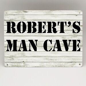 Man Shed Sign Personalised Man Cave Workshop Garage Bar Vintage Retro Metal