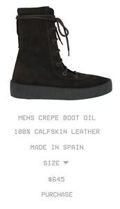 99c13959b3e Image is loading Yeezy-Season-4-Crepe-Boots-Oil-Brown-Sz-