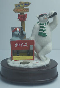 Polar-Bear-Vintage-Coke-Coca-Cola-1998-Musical-Wind-Up-Authorized-Collection