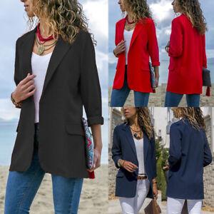Ladies Long Sleeve Cardigan Coat for Women Suit Open Front Jacket Outwear