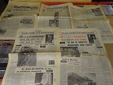 WIELRENNEN / ENKELE TIENTALLEN KNIPSELS RONDE MAGAZINE ONS SPORTBLAD 1971-1972