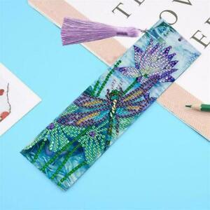 5D-DIY-Dragonfly-Diamond-Painting-Bookmark-Tassel-Cross-Marks-Stitch-W7L3