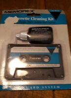 Vintage Memorex Cassette Head Rollers Capstan Cleaning Kit In Box Old Stock