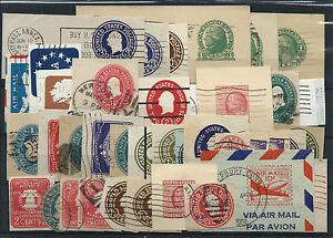 FRANCOBOLLI-1893-STATI-UNITI-USA-LOTTO-RITAGLI-DI-INTERI-POSTALI-D-6045