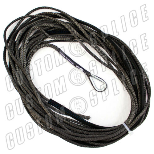 "50/' x 3//16/"" AmSteel Blue Mainline Synthetic Winch Rope Line Cable ATV CHARCOAL"