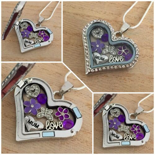 Personalised heart locket Necklace gift for mum sister nan Birthday Xmas gifts 2