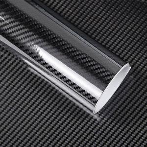 2X-Rotolo-pellicola-effetto-carbonio-LUCIDO-5D-adesivo-sticker-auto-60x100cm-R5D