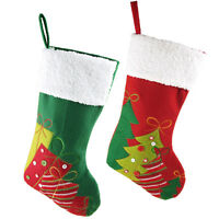 Christmas Stockings Holiday Decor, Burlap, Linen, Cotton, Polyester
