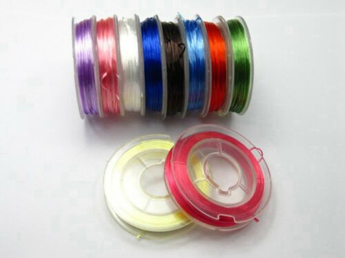 100Meters 10 Rolls Colour Stretchy Elastic Crystal String Beading Thread 0.5mm