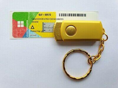 Windows 10 Pro Aufkleber Lizenz Key license 16GB USB Stick ...