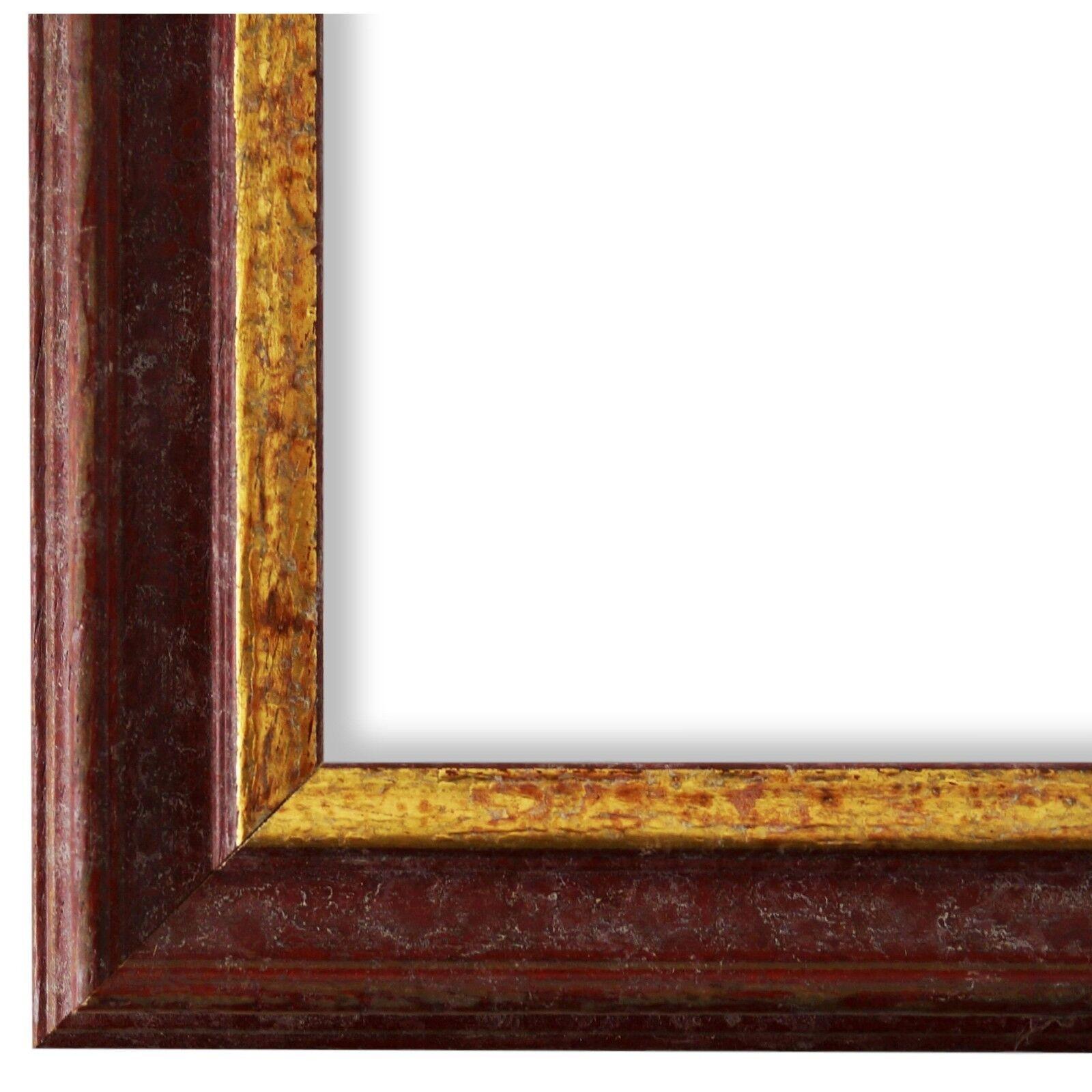 Bilderrahmen Rot Gold Vintage Retro Holz Forli 3,7 - NEU alle Größen