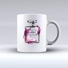 Chanel No. 5 Perfume Watercolour 11oz MUG Christmas Present Girlfriend Wife PINK