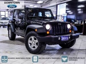 2011 Jeep Wrangler Unlimited Rubicon|MANUAL|NAVI|TOW PKG|LEATHER