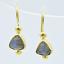 Aylas Labradorita Pendientes-Oro Plateado Semi-Preciosas Piedras Preciosas-Hecho a Mano en OT