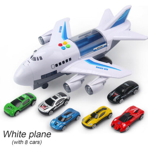 Aircraft Airplane Airliner Car Vehicles Kids Toy Gift for Kid Sound Music Light
