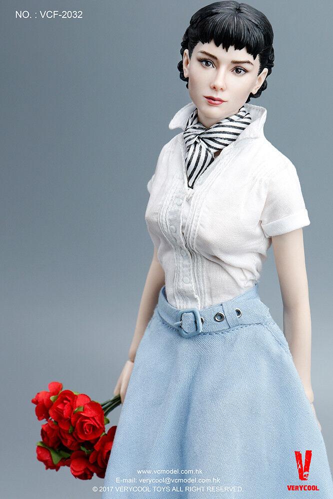 Envío rápido 1/6 Audrey Hepburn Roman Holiday figura femenina Premium Completo Conjunto