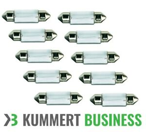 10x-C5W-5W-12V-36mm-Soffitte-Halogen-Sofitte-Lampe-Kennzeichen-Birne