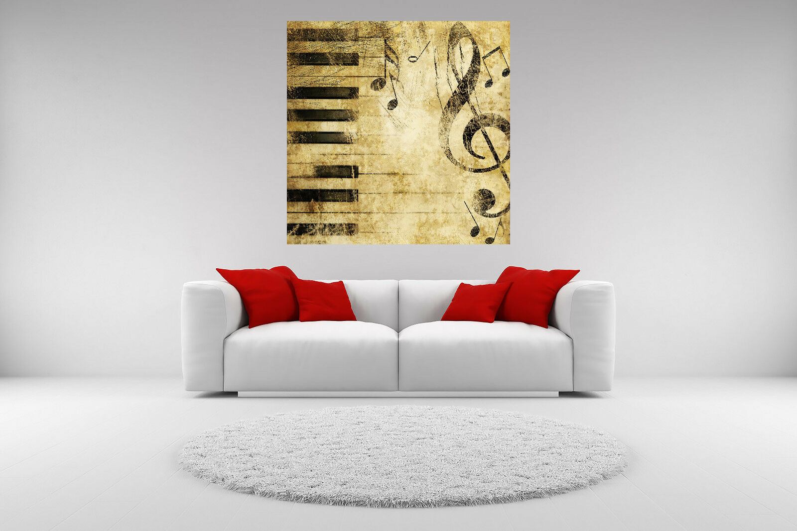 Vintage Music Note Canvas Giclee Print Picture Unframed Home Decor Wall Art