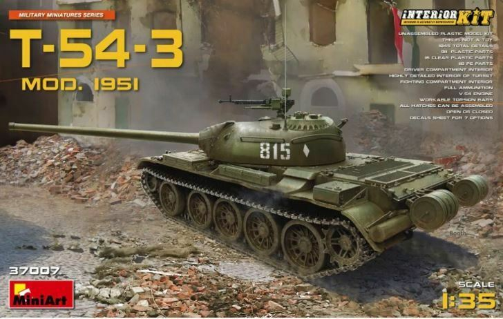 Miniart 1 35 t-54-3 t-54-3 t-54-3 mod  1951 KIT INTERNI b17607
