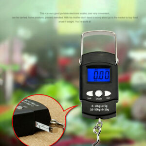 a52184c4d3e0 Details about Portable Backlit LCD Display 110lb/50kg Electronic Balance  Digital Hook Scale