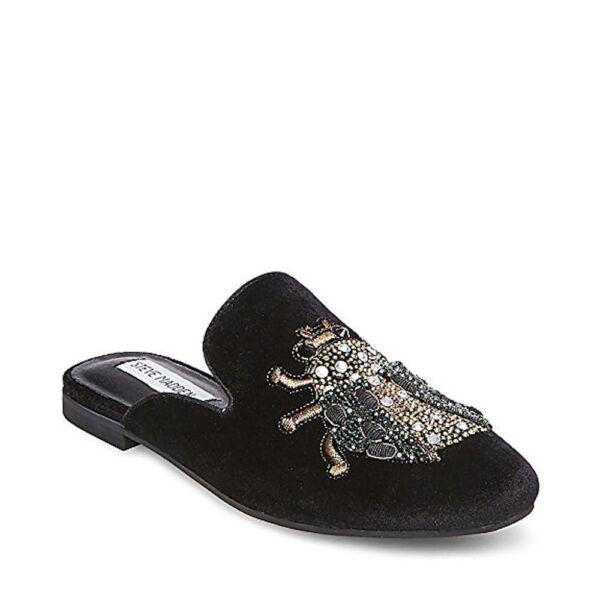 3dd456320f2 Steve Madden Womens Hugh Black Smoking Loafers Shoes 7.5 Medium (b M) BHFO  1474 for sale online